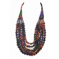 House of Wandering Silk - Vintage Silk Necklace (Purple & Pink)
