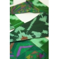 House of Wandering Silk - Vintage Silk Baby Bunting (Green Jungle)