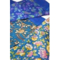 House of Wandering Silk - Vintage Silk Baby Bunting (Royal Blue Floral)